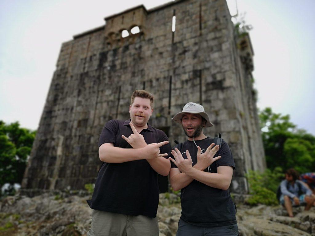 Touriste au Chameau à Terre-de-Haut